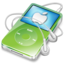 64x64px size png icon of ipod video green apple