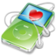 64x64px size png icon of ipod video green favorite