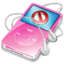 64x64px size png icon of ipod video pink no disconnect