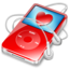 64x64px size png icon of ipod video red favorite
