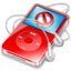 64x64px size png icon of ipod video red no disconnect