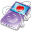64x64px size png icon of ipod video violet favorite