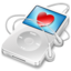 64x64px size png icon of ipod video white favorite