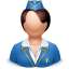 64x64px size png icon of airhostess woman