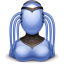 64x64px size png icon of alien female