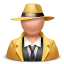 64x64px size png icon of gangster man