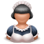 64x64px size png icon of maid girl