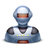64x64px size png icon of robot male