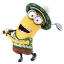 64x64px size png icon of Minion Playing Golf