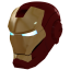 64x64px size png icon of Ironman Mask 1 Gold