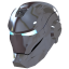 64x64px size png icon of Ironman Mask 2 Silver