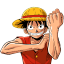 64x64px size png icon of Monkey D Luffey
