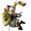 64x64px size png icon of Shrek and Donkey and Puss 2