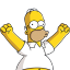 64x64px size png icon of Homer Simpson 04 Happy