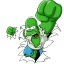 64x64px size png icon of Homer Simpson 05 The Incredible Homer