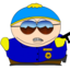 64x64px size png icon of Cartman Cop zoomed