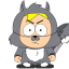 64x64px size png icon of butters squirrel zoomed