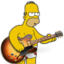 64x64px size png icon of garage band homer