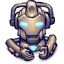 64x64px size png icon of Comics Hero Grey