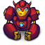 64x64px size png icon of Comics Hero Red 2