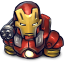 64x64px size png icon of Comics Ironman Red