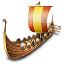 64x64px size png icon of viking ship