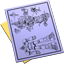 64x64px size png icon of Blueprint Document