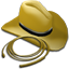 64x64px size png icon of Hat and Whip