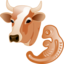 64x64px size png icon of Cow embryo