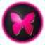 64x64px size png icon of butterfly