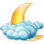 64x64px size png icon of Cloudy night