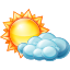 64x64px size png icon of Partly cloudy day