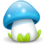 64x64px size png icon of mushroom blue
