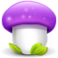 64x64px size png icon of mushroom purple