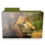 64x64px size png icon of lion folder