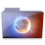 64x64px size png icon of planet folder