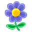 64x64px size png icon of Blue Flower