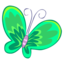 64x64px size png icon of Green Butterfly