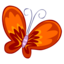 64x64px size png icon of Red Butterfly