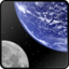 64x64px size png icon of Earth and Moon