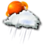 64x64px size png icon of sun rain