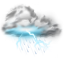 64x64px size png icon of thunder lightning storm