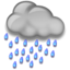 64x64px size png icon of Heavy Rain at Night