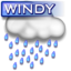 64x64px size png icon of Windy rain