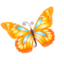 64x64px size png icon of Butterfly orange