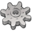 64x64px size png icon of Light Grey Gear