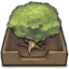 64x64px size png icon of Tree in an inbox
