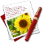 64x64px size png icon of Diary Photo Sunflower