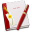 64x64px size png icon of Notebook Bookmark