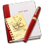 64x64px size png icon of Notebook Recipe